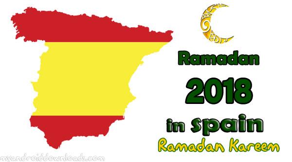 امساكية رمضان 2018 اسبانيا تقويم رمضان 1439 Spain Ramadan Imsakia