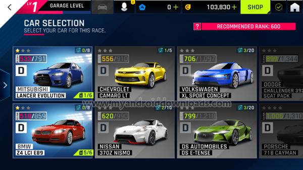 انواع السيارات التي تحصل عليها في لعبة اسفلت 9 -تحميل لعبة اسفلت 9 للاندرويد