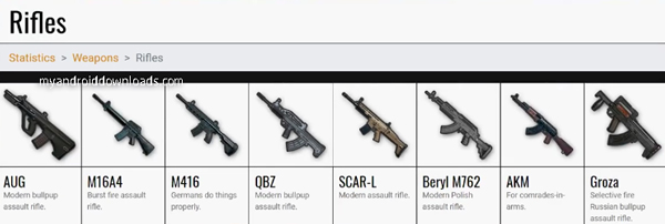 Assault Rifles PUBG