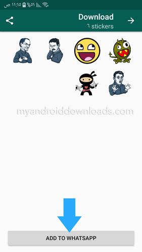 اضف الملصقات من خلال تطبيق Personal stickers for WhatsApp