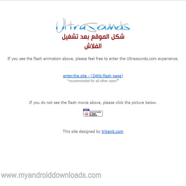 شكل الموقع بعد تشغيل الفلاش