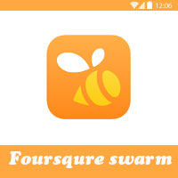 تطبيق مشاركة الأماكن فورسكوير سوارم للأندرويد