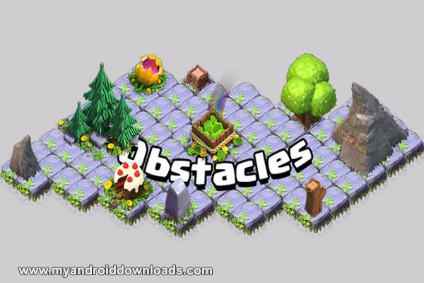 العقبات Obstacles في لعبة كلاش أوف كلانس