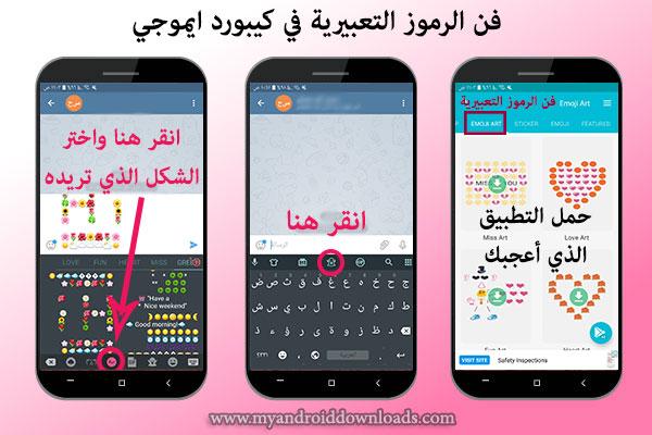 فن الرموز التعبيرية في كيبورد ايموجي emoji keyboard