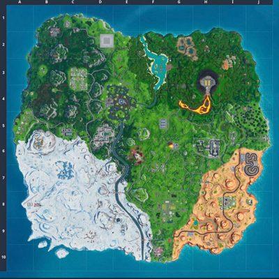الخريطة الجديدة في الموسم العاشر من فورتنايت