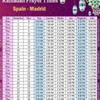 تحميل امساكية رمضان 2019 اسبانيا مدريد Ramadan Imsakiye