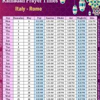 تحميل امساكية رمضان 2019 ايطاليا روما Imsakia Ramadan italy