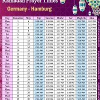 امساكية رمضان 2019 - المانيا هامبورج Imsakiye 2019 Hamburg