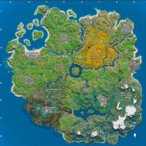الخريطة الجديدة في الشابتر الثاني من فورتنايت