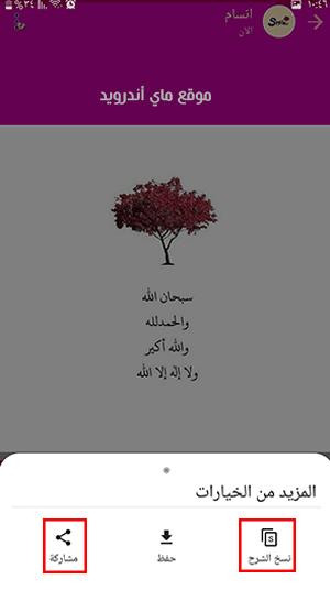 نسخ ومشاركة الحالة في واتساب عمر العنابي