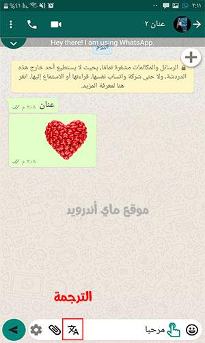 اضاة ميزة الترجمة الى محادثات واتساب عمر الاخضر
