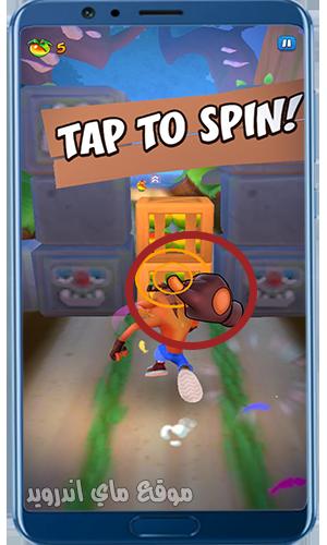 شرح طريقة اللعب في Crash Bandicoot للموبايل