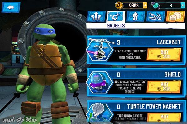 شراء التعزيزات لتمنح نفسك القوة Ninja Turtles 2021